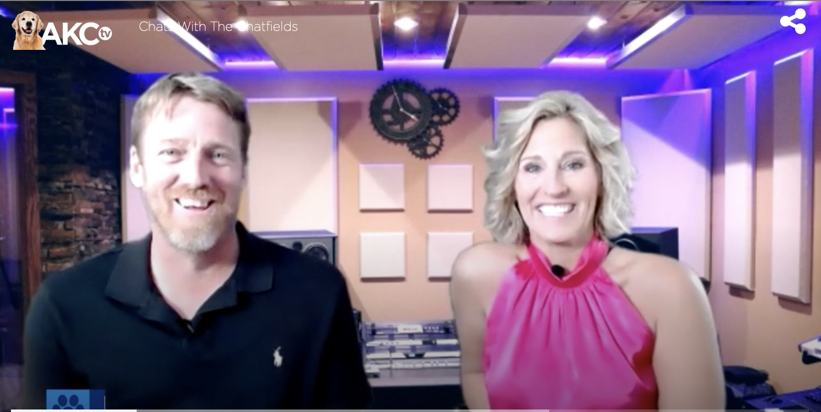 """AKC.TV interviews Dr. Jen and Dr. Jason about """"Chats with the Chatfields"""""""